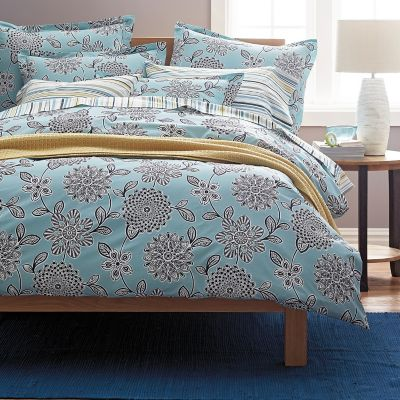 Paige Floral Organic Percale Duvet Cover