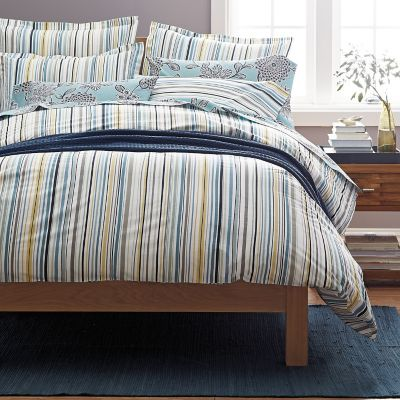Paige Stripe Organic Percale Bedding