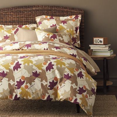 Falling Leaves Flannel Duvet Cover