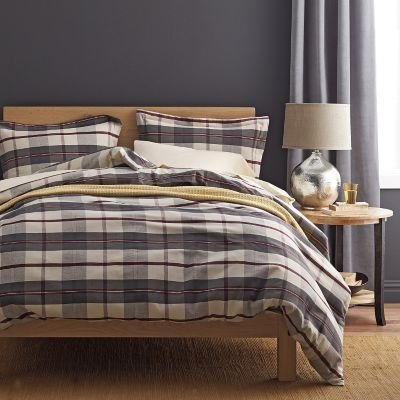 Riley Plaid Yarn-Dyed Flannel Duvet Cover