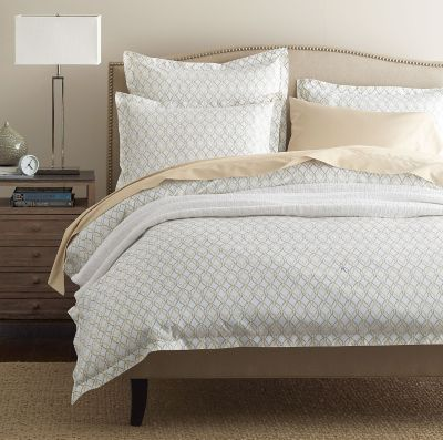 Legends® Trellis Taupe Sateen Duvet Cover / Sham