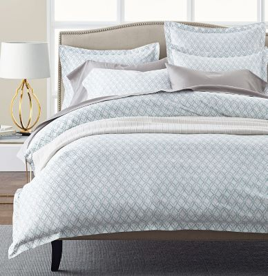 Legends® Trellis Turquoise Sateen Duvet Cover / Sham