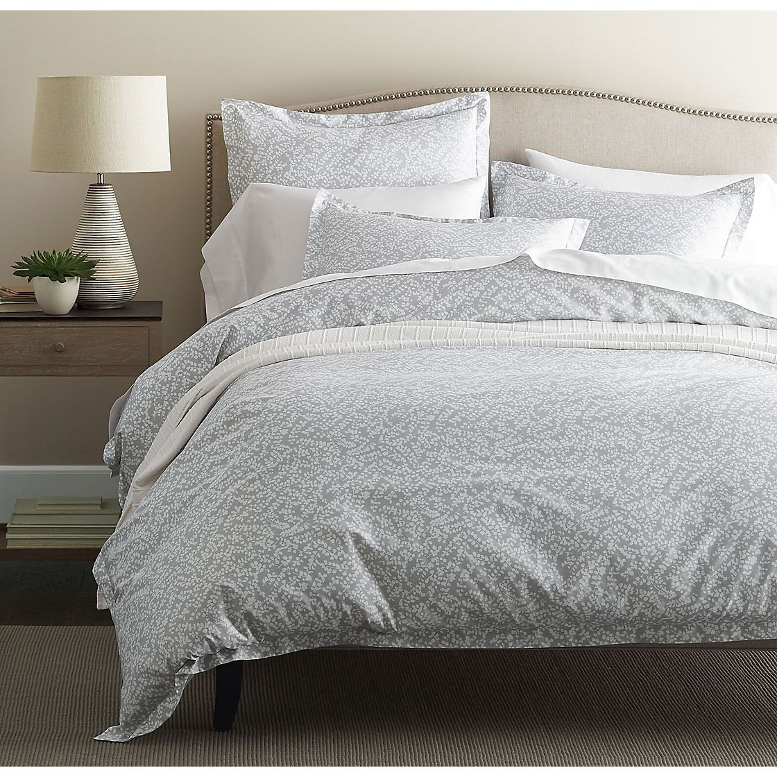 Legends Willow Gray Sateen Duvet Cover The Company Store