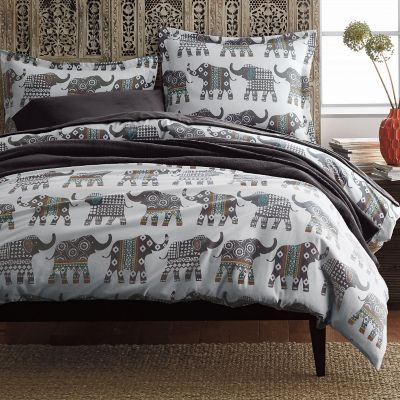 Elephant Caravan Flannel Bedding