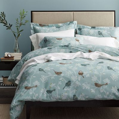 Birds Of A Feather 5 oz. Flannel Duvet Cover / Sham