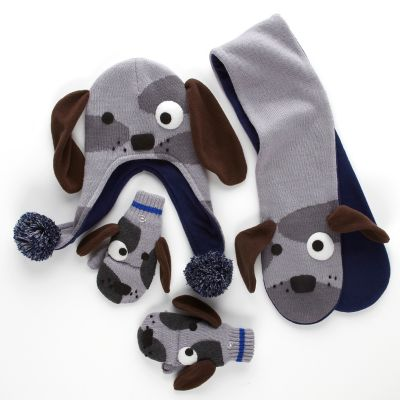 Kids' Dog Sweater, Hat, Scarf & Mittens