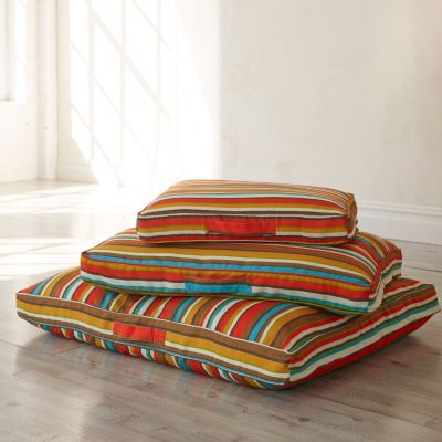 Large Stripe Dog Bed Cover