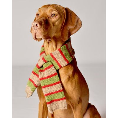 Handknit Wool Dog Scarves