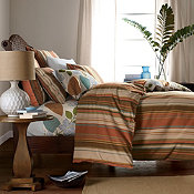 Palmer Stripe Yarn-Dyed Duvet Cover