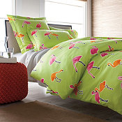 Flamingo Park Percale Duvet Cover and Sham