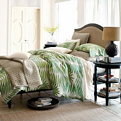 Comfort Wash Palm Forest Linen Duvet Cover & Sham