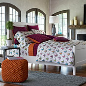 Holiday Doves Flannel Duvet Cover and Sham