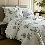 Penguin Parade Flannel Bedding