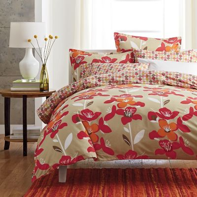 LoftHome By The Company Store® Shelby Coral Reversible Duvet Cover