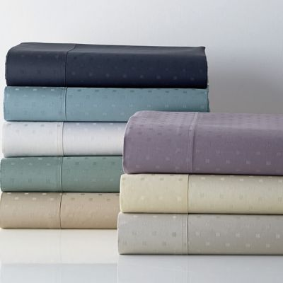 Legends® Luxury 500-Thread Count Dot Sateen Fitted Sheet