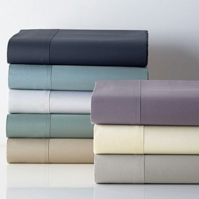 Legends® Luxury 500-Thread Count Solid Sateen Flat Sheet