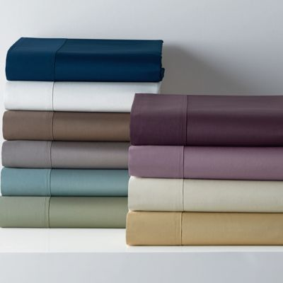 450-Thread Count Wrinkle-Free Solid Sateen Deep Flat Sheets