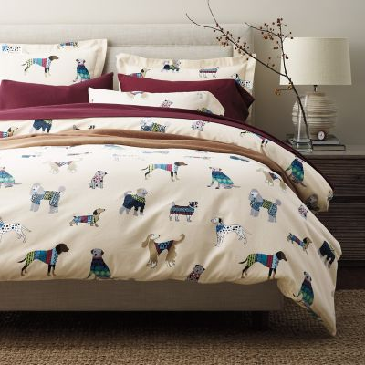 Fashion Hounds 5-Oz. Flannel Duvet / Sham
