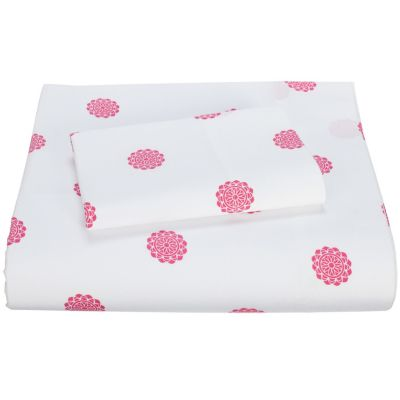 Flower Dot Percale Duvet Cover