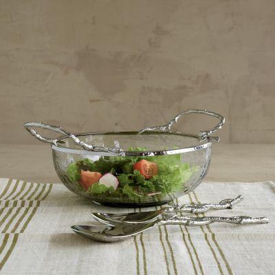 Branch Glass Salad Bowl