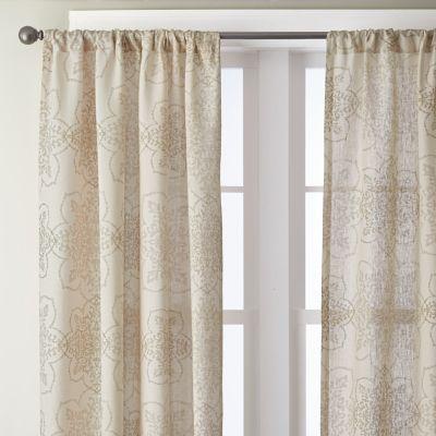 Medallion Linen Window Panels