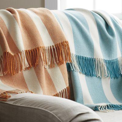 Alpaca Herringbone Throw Blanket