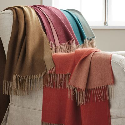 Alpaca Double-Face Throw Blanket