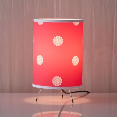 Flower Dot Hot Pink Lamp