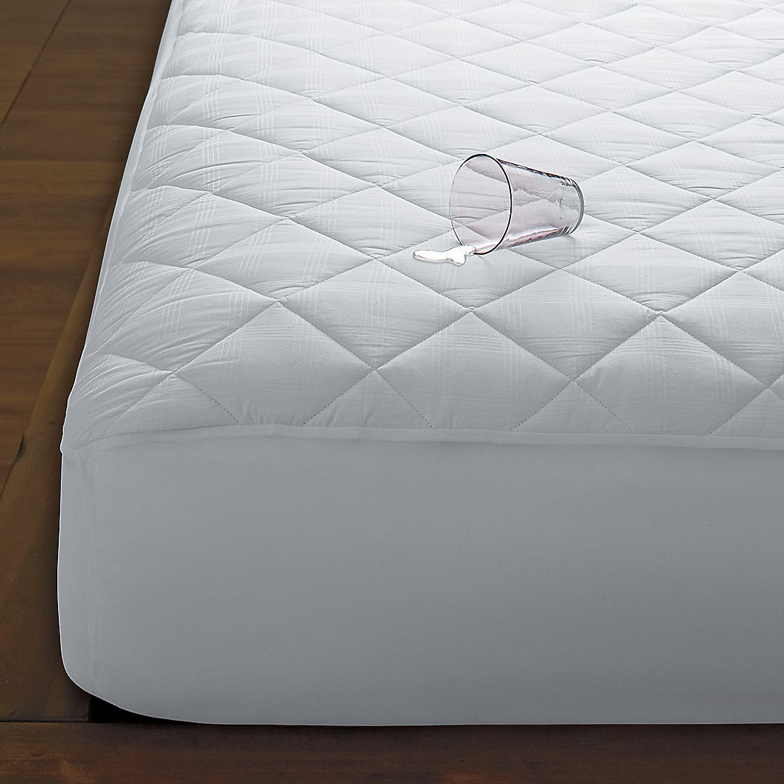 400 Thread Count Waterproof Cotton Top Mattress Pad