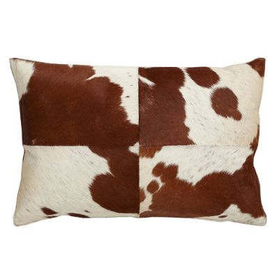 Jersey Cowhair Accent Pillow Cover, 16
