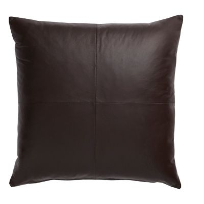 Brown Lambskin Accent Pillow Cover