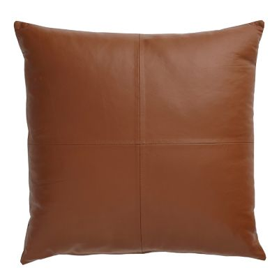 Tan Lambskin Accent Pillow Cover