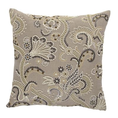 Legends® Beaded Floral Pillow Cover