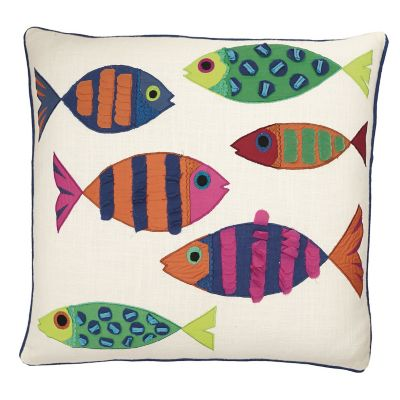 Accents Novelty Pillow Cover – Calypso Fish
