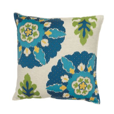 Suzani Decorative Pillow - Blue