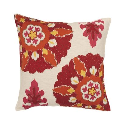 Suzani Decorative Pillow - Red