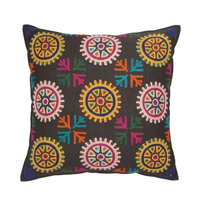 Crewel Decorative Pillow - Bark
