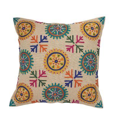 Crewel Decorative Pillow - Natural
