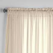 Chambray Voile Window Rod Pocket Panel