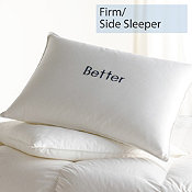 Down/Feather, Firm, Side Sleeper, Better Pillows