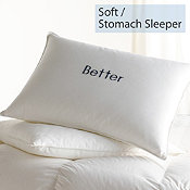 Down/Feather, Soft, Stomach Sleeper, Better Pillows