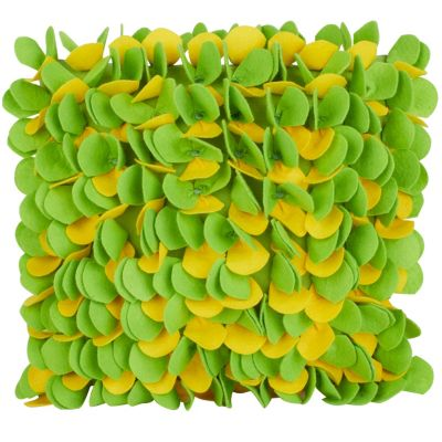 Blossom Pillow - Green/Yellow