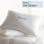 Down, Firm, Side Sleeper, Good Pillows