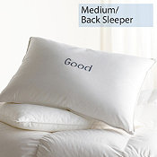 Down, Medium, Back Sleepers, Good Pillows