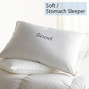 Down, Soft, Stomach Sleeper, Good Pillows