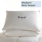 Down, Medium, Back Sleepers, Royal Pillows