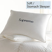 Down, Soft, Stomach Sleeper, Supreme Pillows
