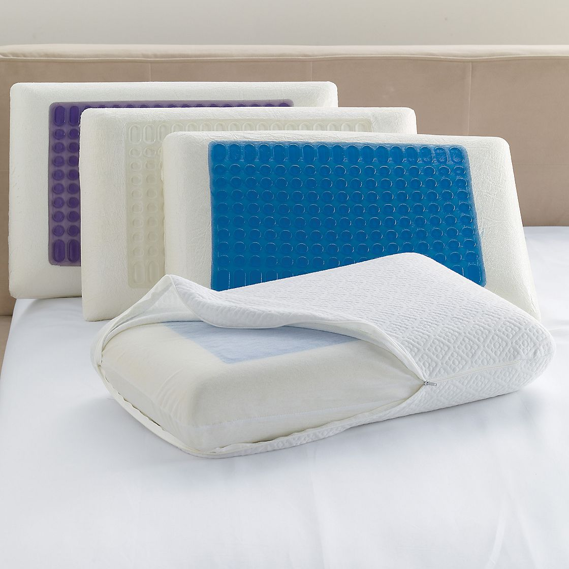 memory foam cooling pillow photo