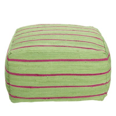 Mirage Stripe Pouf