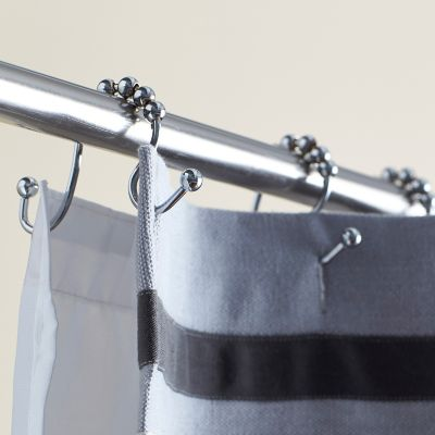 Double Roller Shower Curtain Hooks